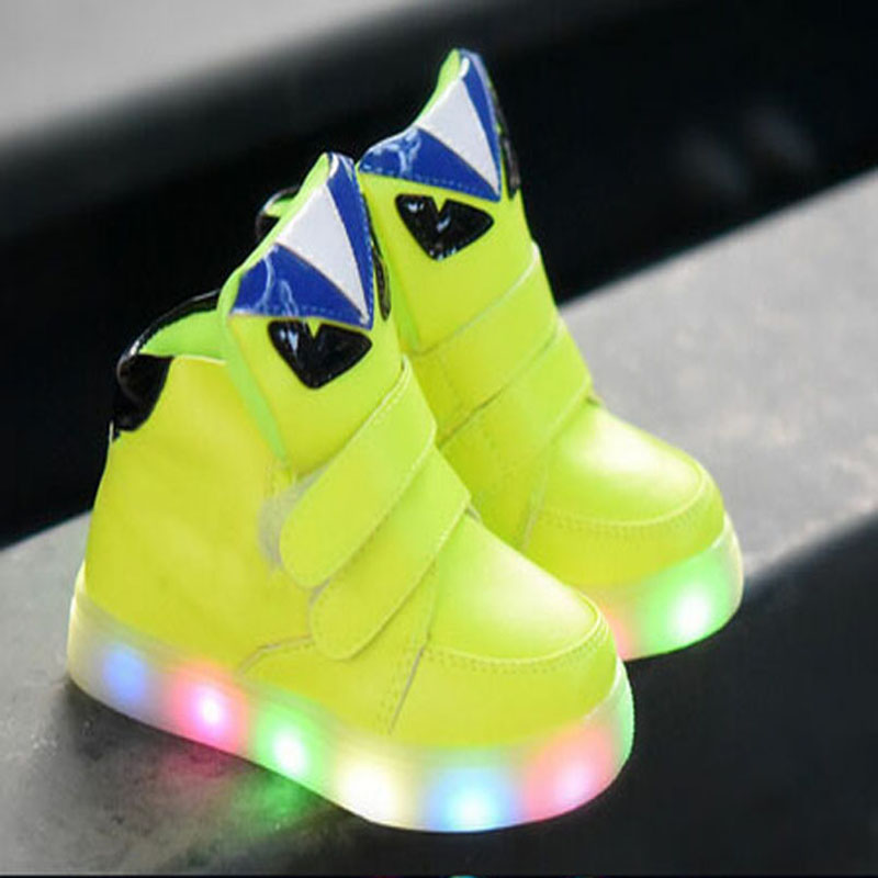 2018 European Fashion Colorful Lighted baby casual shoes hot sales cool baby boots high quality kids sneakers