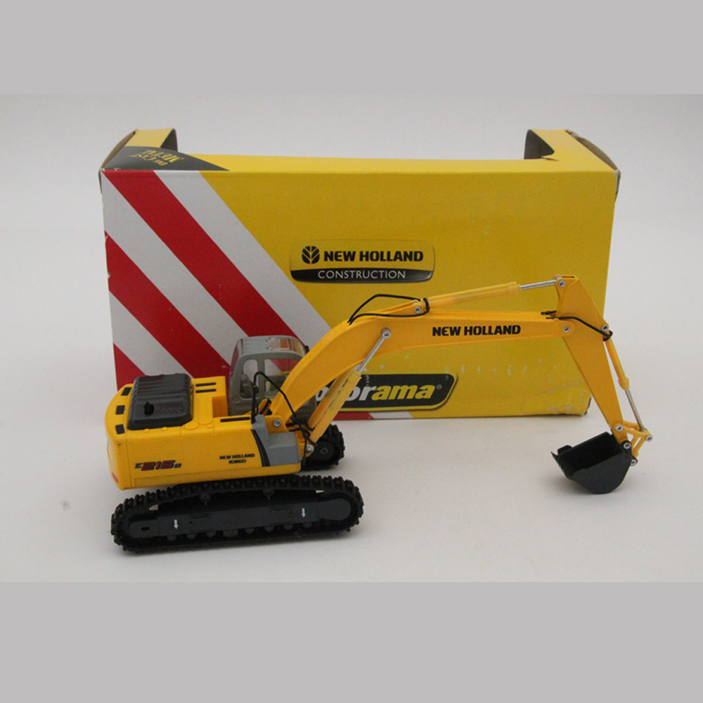 1:50 Scale New Holland Kobelco Construction Motorama E215B Excavator Diecast Model Toy Cars Hobbies collection
