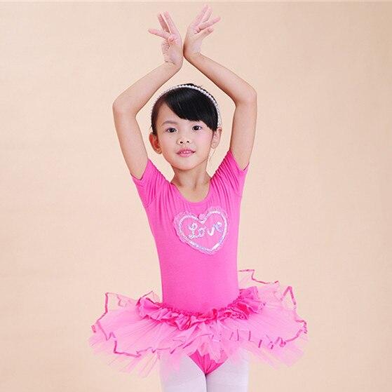 Child Girls Ballet Dancewear Dress Tranning Dance DressTutu Leotard White/Yellow/Rose AD-1683 - Qiqiang Trading Company Ltd. Store store