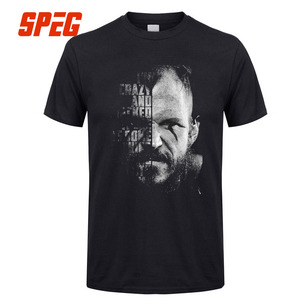 Men's Formal   T     Shirts   Vikings Valhalla Floki Quote Odin Men Crewneck Short Sleeve   T  -  Shirt   Summer Adult Humorous Tee Tops