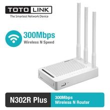 TOTOLINK N302R + 300 Мбит/с Wi-Fi маршрутизатор, Беспроводной маршрутизатор с 3 шт. из 5dBi антенны, одна страница настройки, английского и России прошивки