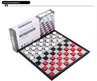 2018 En Plastique Jeu d'échecs Rouge Blanc Mini Pliable Conseil Jeu Pièce D'échecs Partie Classique Checkers pour Familles Kid Partie Portable