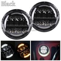 2PCS Black 7inch LED Headlights Kit For 1981 1985 Jeep CJ 8 Scramble 1992 2001 AM