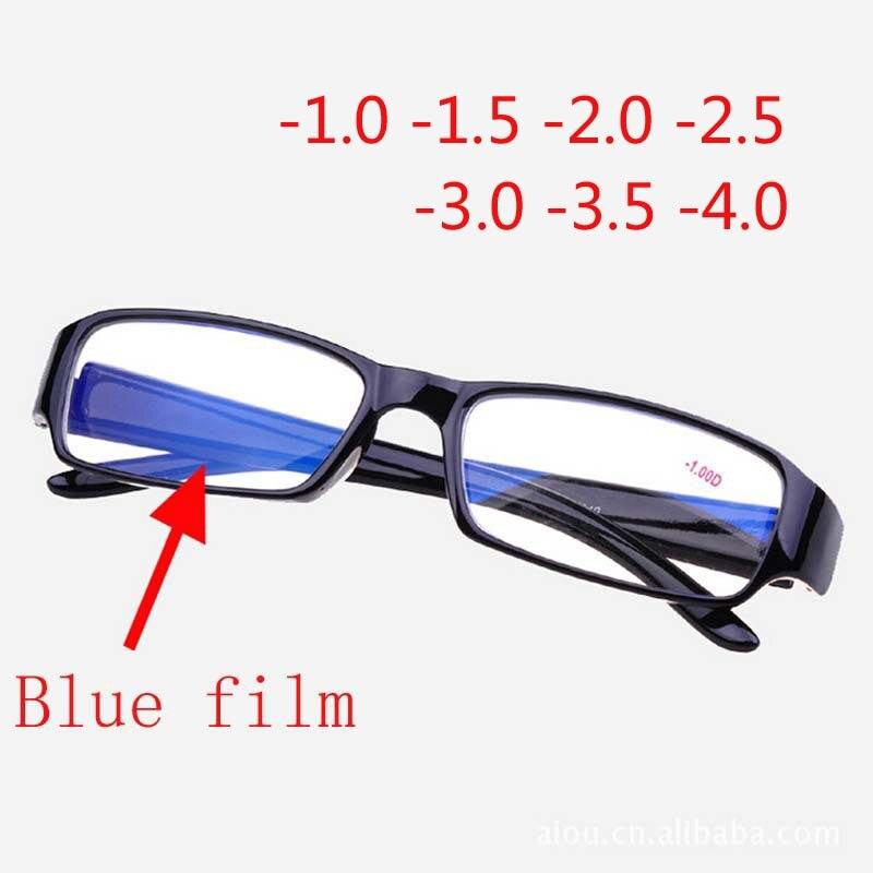 69ff4b891 Moda Mens Mulheres Unisex Óculos de Miopia Miopia Óculos com Azul  Revestido-1-1.5-2-2.5 -3-3.5-4-4.5-5-5.5-6.0