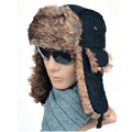High Quality winter bomber hats men Russian dull polish matting faux fur cap Casual Earmuffs Keep warm hat lei feng caps for men