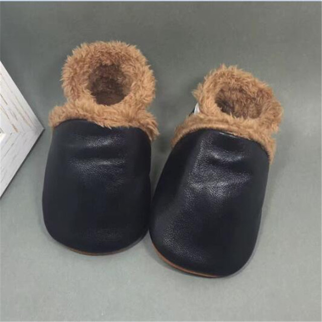 Super Warm Cotton Newborn Baby Boy Shoes First Walkers Soft Soled Genuine Leather Infant Toddler Girl Shoes Winter sapato menino
