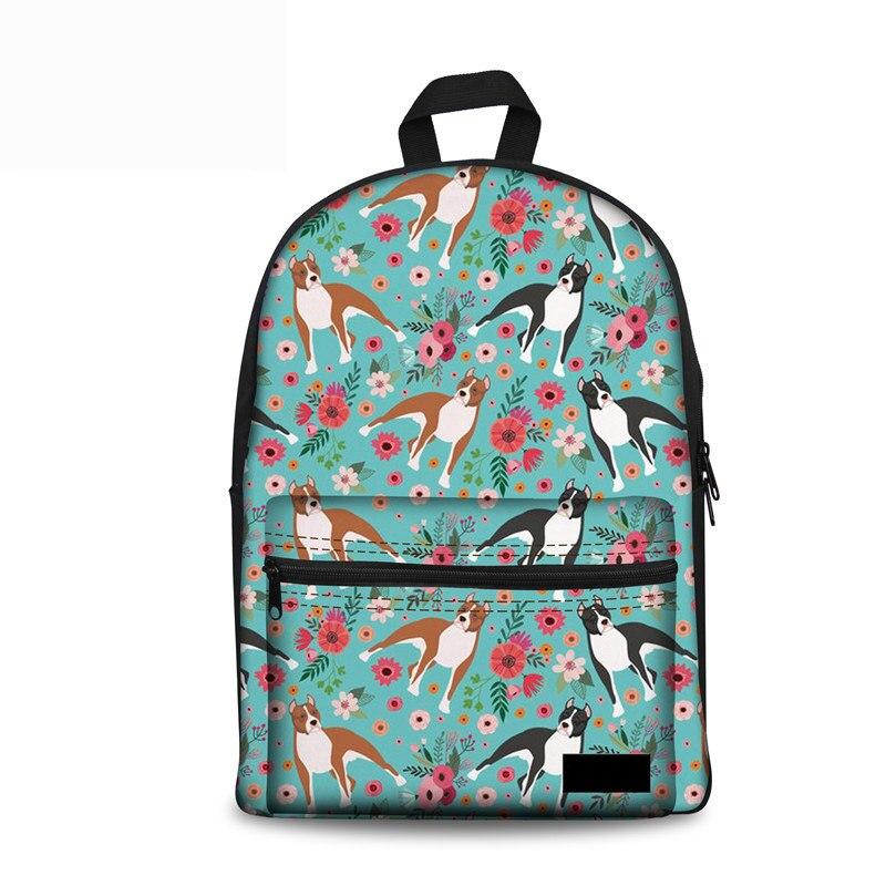 Noisydesigns Japanese School Bag Staf dshire Terrier Canvas Schoolbag Girls Women Stylish Backpack Brand Designer Female Satchel