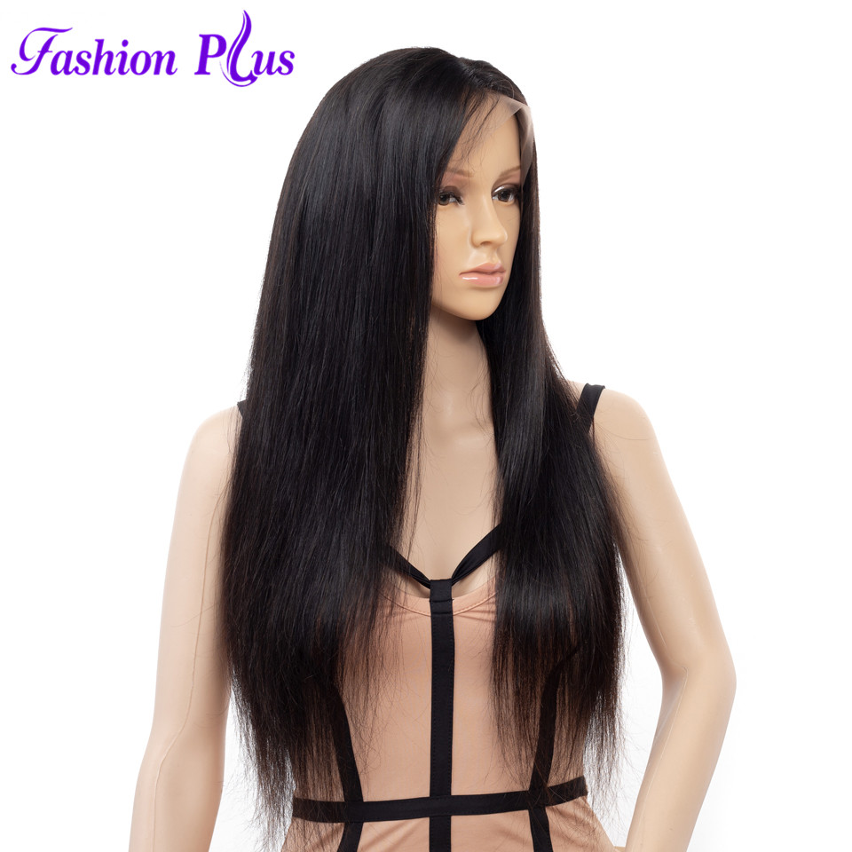 Fashion Plus Straight Full Lace Human Hair Wigs Free Part Brazilian Remy Hair Wigs 8