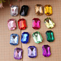 500pcs/Bag 13*18mm Rectangle Shape Point Back Acrylic rhinestones,Acrylic Plastic 3D Nail Art / Jewelry / Garment Rhinestone