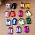 500pcs/Bag 13*18mm Rectangle Shape Point Back Acrylic rhinestones,Acrylic Plastic 3D Nail Art / Jewelry / Garment Rhinestone