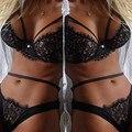 2016 Sexy Ladies Ночное Белье G Строка Babydoll Шнурка Женщины Краткие Наборы