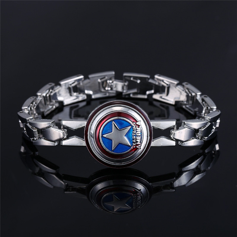 Expressive 13 Style Hot Movie Iron-man Captain American Lol One Piece Naruto Alloy Bracelet For Women&men Size 20cm Length Fashionable And Attractive Packages