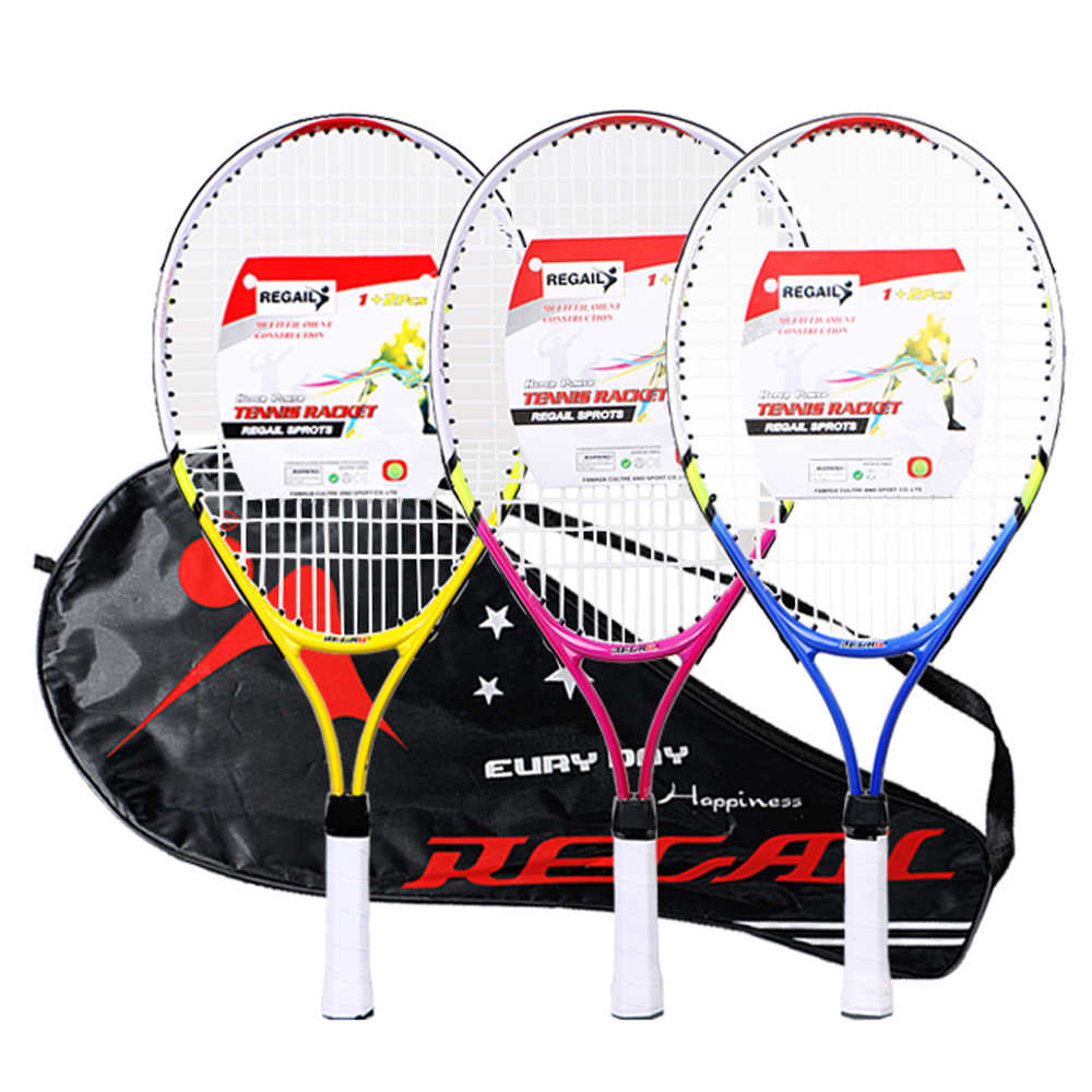 REGAIL 1 Pcs Only Teenager's Tennis Racket Nylon Wire Chindren Tennis Racquet Aluminium Alloy Frame with Firm for Training