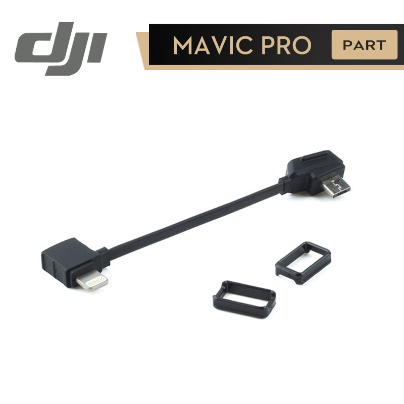 цена DJI Mavic RC Cable ( Lightning Connector ) for Connect IPhone to Remote Controller Mavic Pro Original Accessories