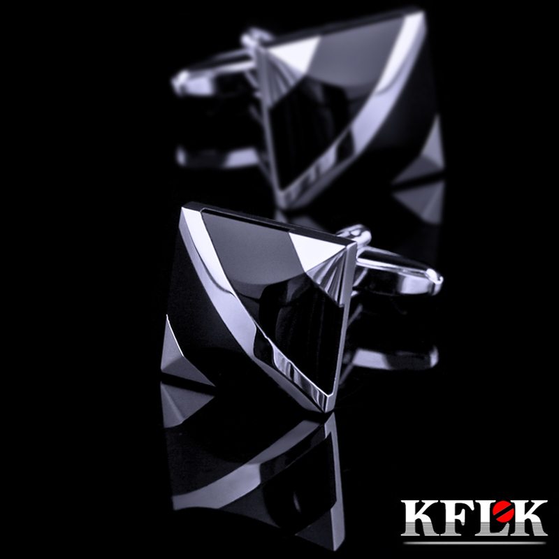 KFLK Jewelry Fashion Shirt Cufflinks For Mens Brand Cuff Buttons Cuff Link Black Gemelos High Quality Abotoaduras Free Shipping