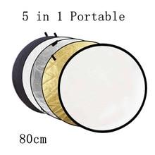 BIZOE 80 см 5 в 1 портативный складной свет Круглый отражатель для фотостудии мульти фото диск наружный студийный отражатель