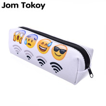 Emoji 3D Printing cosmetic bag 2016 Fashion women makeup bags toiletry bag Pencil necessaire trousse de maquillage makyaj BD803 2017 3d printing large cosmetic bags