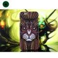 Мода Марка Лес Король Кот Сова Тигр Леопард Лев Pattern Жесткий ПК Дело Shell обложка для iPhone 5 5S SE 6 6 S Plus Животных Coque