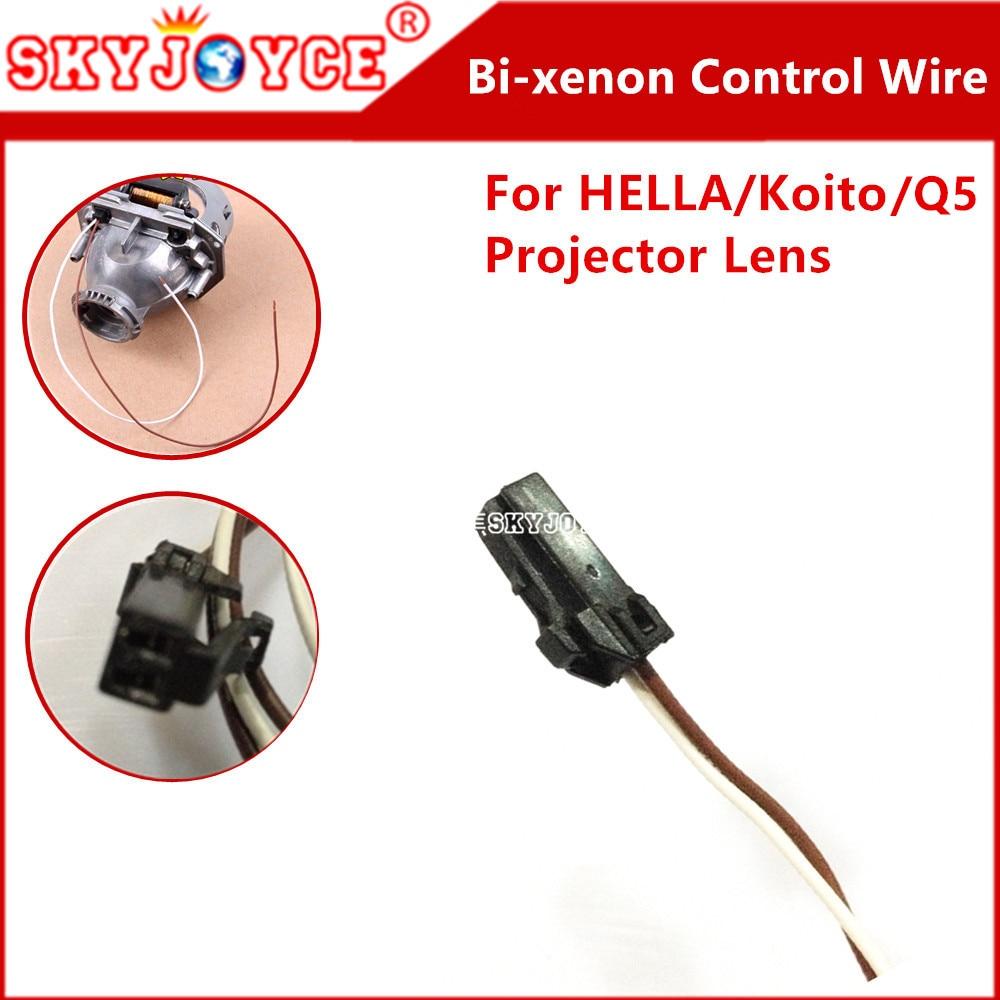 2X Solenoid Pigtail plug control wire for Hella Q5 HID bixenon Projector lens hid H4 bixenon headlight Hella 2 3 6 projector blue light blocking glasses