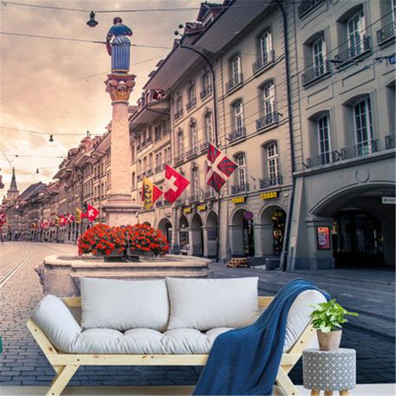 3D Custom Photo Wallpapers Europe Nature Landscape Murals Vintage Bedroom Walls Papers for Living Room TV Background Home Decor custom photo size wallpapers 3d murals for living room tv home decor walls papers nature landscape painting non woven wallpapers