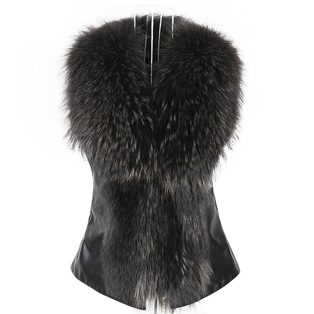2016 New Faux Fur Vest Luxury Lady Leather Vest Outerwear Short Women Winter Warm Fur Gielt Coat feminina Plus Size S-3XLOct26