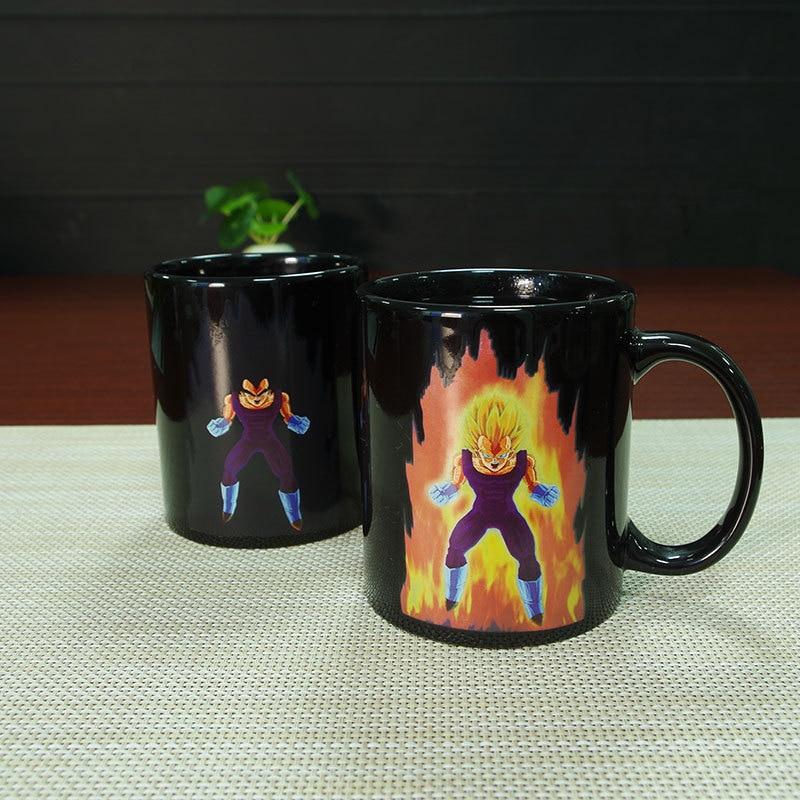 Dragon Ball SON Goku Magic Mug Hot Changing Color Cups Heat Reactive Mugs Super Saiyan Cups Milk Coffee Cup Magic Mug