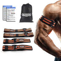 BFR Occlusion Wraps Pro Resistance Bands Fitness Arm Leg Blaster Elastic Exercise Bands for Blood Flow Restriction Training