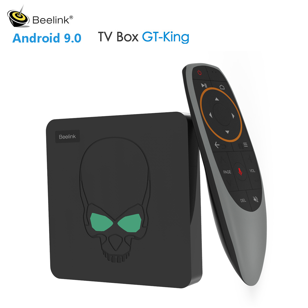 Beelink gt-king Smart TV Box Amlogic S922X Android 9.0 4GB DDR4 64GB ROM 4K 2.4G & 5.8G WiFi 1000Mbps décodeur commande vocale