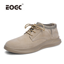New Comfortable Men Casual Shoes Sneakers Quality Genuine Leather Flats Moccasins Outdoor