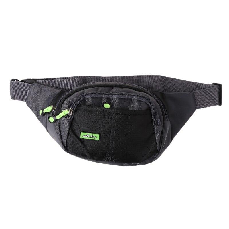 New Nylon Travel Hip Purse Men Waist Bag Utility Zipper Waist Fanny Pack Belt Bag drawstring waist sleeveless utility jumpsuit