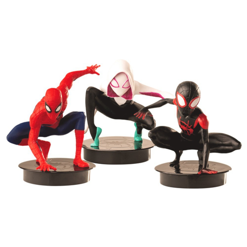 3pcs Spider Man Far From Home Spider-Man Figure Topper Cup Movie Exclusive Collection Model Decoration Gift