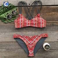 Podgrzewany Cupshe Miłość w Desert Przejdź Z Powrotem Bikini Set Kobiety Lato Sexy Swimsuit Ladies Beach Strój Kąpielowy stroje kąpielowe