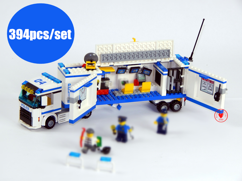 New Urban Fluidity Police Station fit legoings city swat police figures Building Blocks Bricks boys diy toys 60044 gift kid 407pcs sets city police station building blocks bricks educational boys diy toys birthday brinquedos christmas gift toy