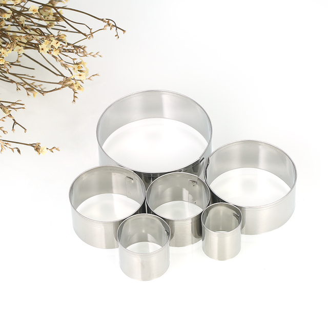 Round Stainless Steel Cookie Cutters Fondant Baking Cookie Biscuit Cutters Sandwich Cutters Cookie Cutter
