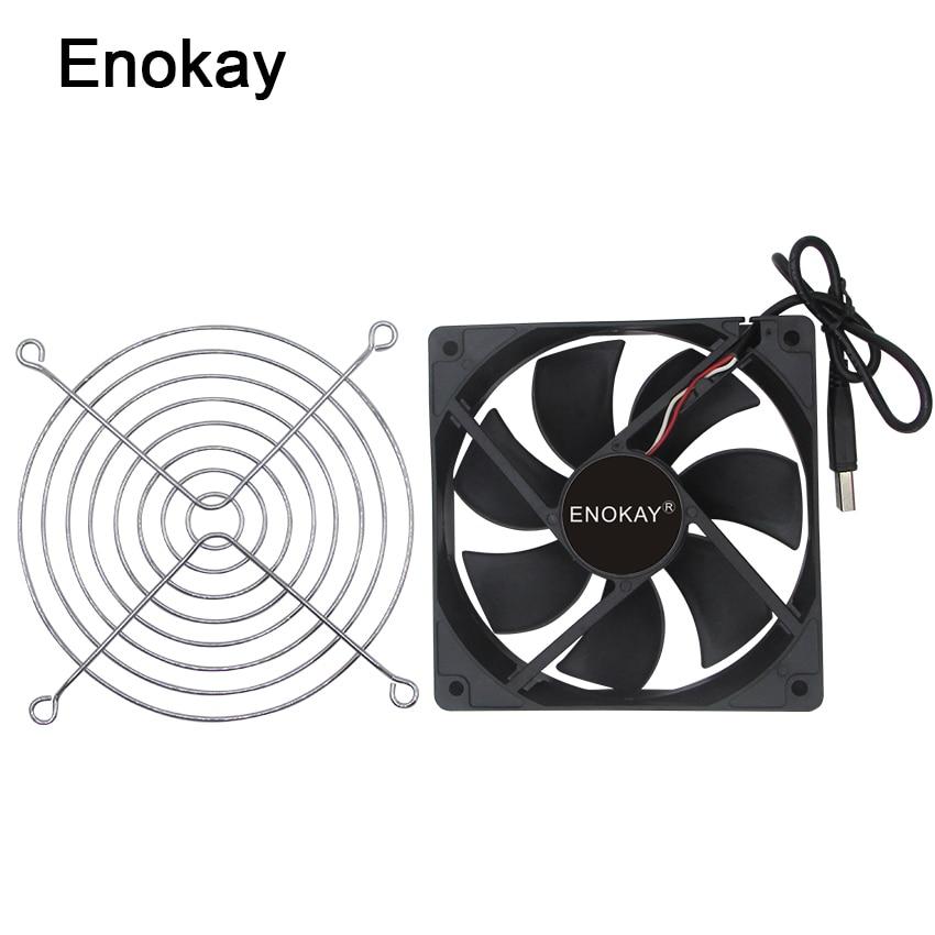 1 pz Enokay Connettore USB 5 V 12025 12 cm 120x120x25mm 120mm Computer DC Ventola di raffreddamento con Griglia