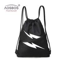 Aosbos Waterproof Drawstring Gym Bag Nylon Sports Bag For Women Men Fitness Bags Training Gym Backpacks