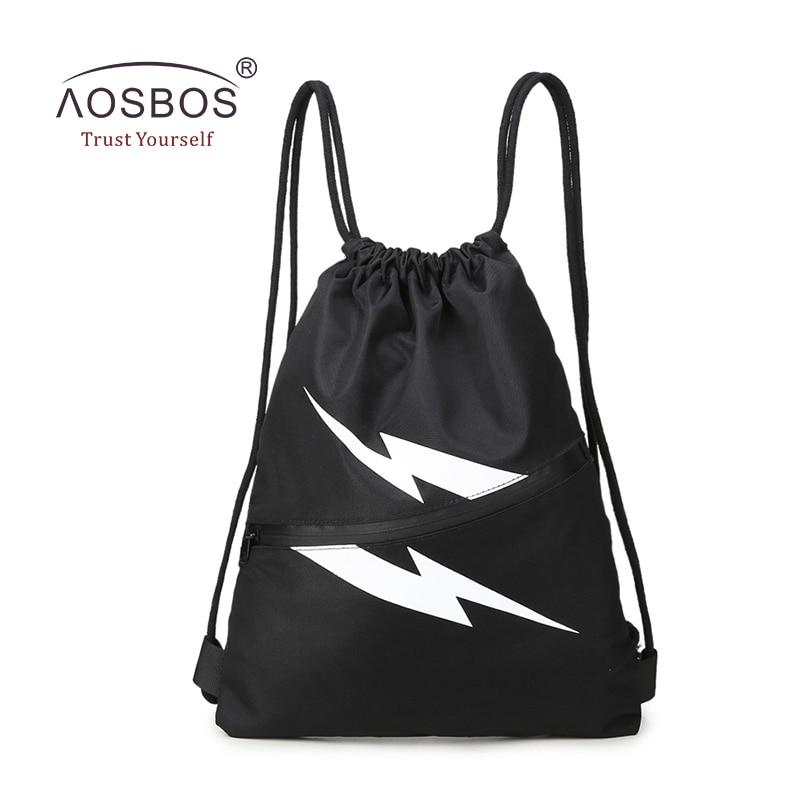 Aosbos αδιάβροχο τσάντα γυμναστικής τσάντα Nylon αθλητικά παπούτσια τσάντα για άνδρες τσάντες γυμναστικής κατάρτιση γυμναστικής σακίδια υπαίθρια πεζοπορία σακίδιο