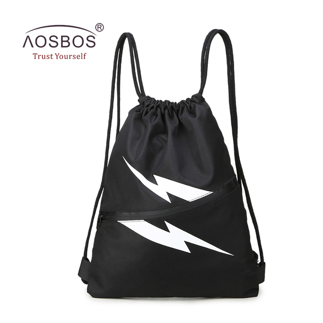 Aosbos Waterproof Drawstring Gym Bag Nylon Sports Shoes Bag For Men Fitness Bags  Training Gym Backpacks Outdoor Hiking Backpack 038f0085d9faa