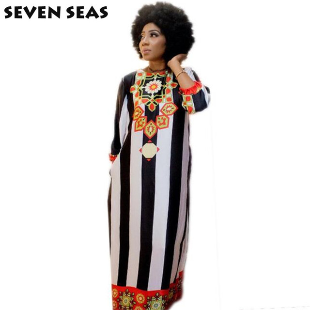 b96de0443 New Fashion Design African Dashiki Bazin Super Party Plus Size Loose Maxi  Dress for Lady