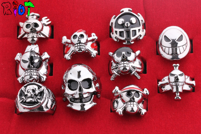 One Piece Finger Ring 10pcs/lot Vintage Punk Ring