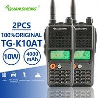 2 шт. Quansheng TG K10AT двухканальные рации UHF VHF дополнительно 4000 мАч Ricetrasmittente двухстороннее радио СВ полиции оборудования Woki токи 10 км