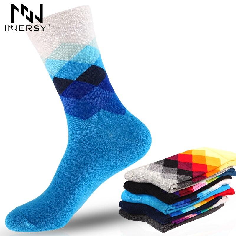 Innersy 2017 Brand 5Pcs/lot Socks Colorful Socks Men Deodorize Socks Cotton Antumn Socks Casual Wear Colorful Stocking Pattern