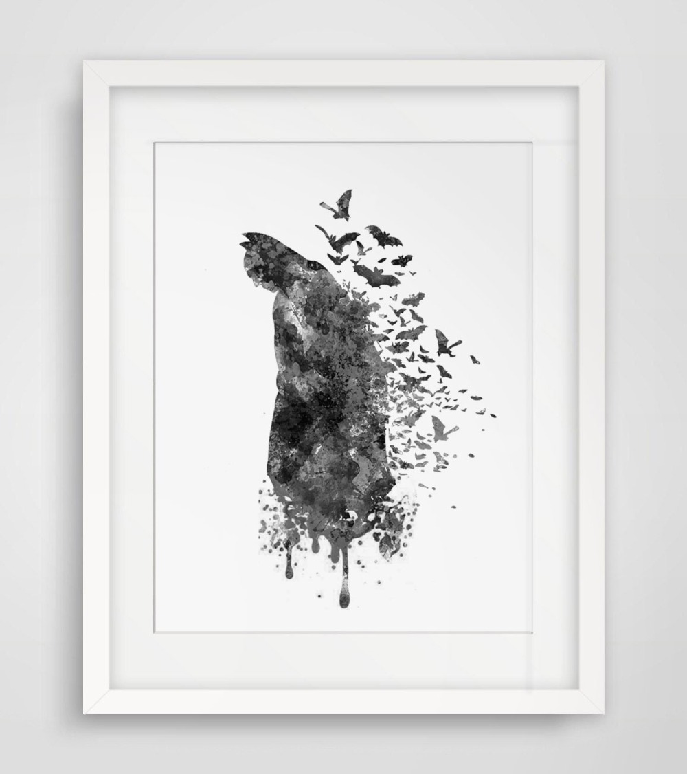 Aliexpress.com : Buy Batman Art Print Original Watercolor ...