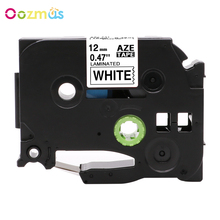 Oozmas 1 Pack Adhesive Label Tapes 12mm x 8M Black on White Compatible for Brother Tz231 Tze231 P touch Label Printer Ribbon