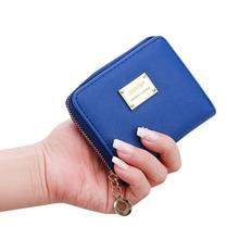 ISHOWTIENDA Для женщин маленький кошелек, кожаный держатель для карт на молнии монета кошелек, клатч monedero mujer# A40