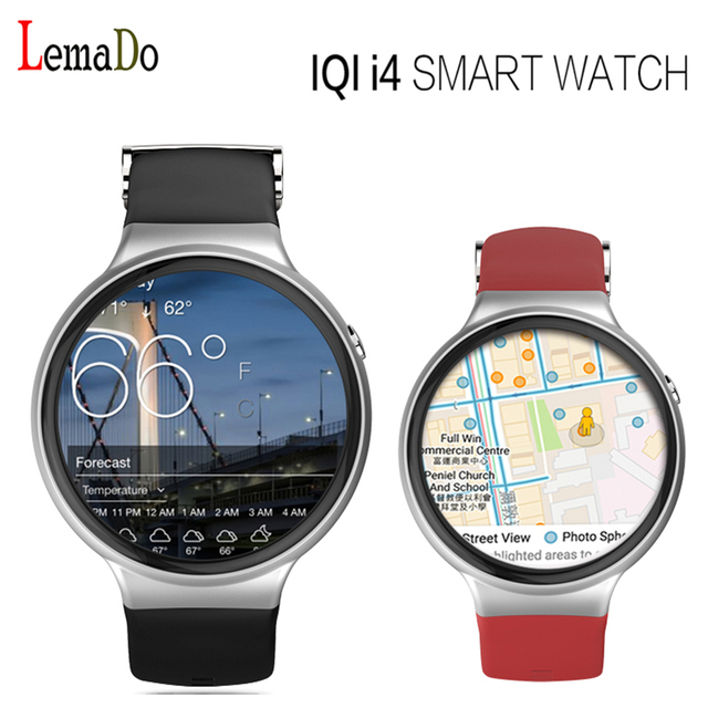 Lemado IQI I4 Android 5.1 OS Smart Watch phone MTK6580 512 МБ + 8 ГБ WIFI GPS Heart Rate Monitor bluetooth SmartWatch
