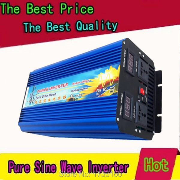 10000W peak DC 24V to AC 220/230/240V Off Grid Pure Sine wave Solar inverter 5000 watt power inverter Doubel Digital Display