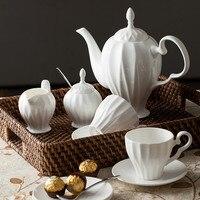 2017 11 шт./компл. Высокое качество костяного фарфора чашки кофе Установить простую жизнь послеобеденный чай китайский чайный сервиз чашки под