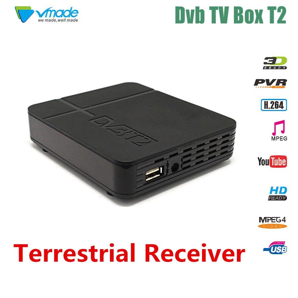 2018 Vmade SET TOP BOX DVB T2 HD Numérique Terrestre TV Tuner PVR YouTube MPEG-4/MPEG-2 HD 1080 p H.264 DVB T2 Récepteur
