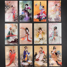 (6 pieces / lot)Chinese characteristics, creative classics, four beautiful women, gold, plastic, crafts, refrigerator stickers